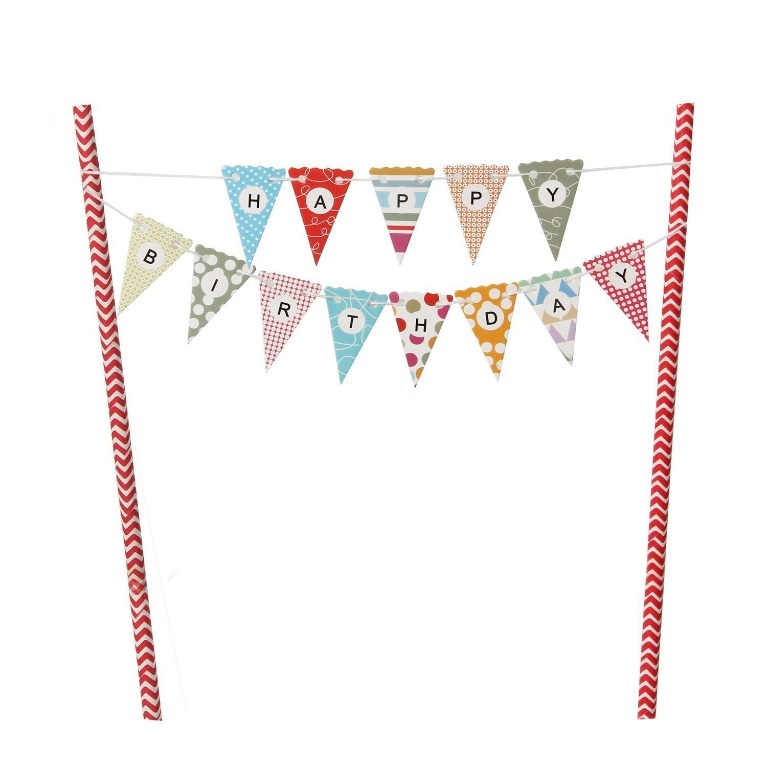 Mini Happy Birthday Flag